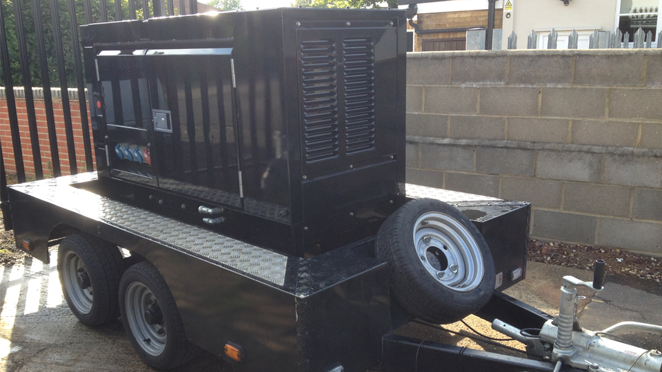 Hampshire Stage Hire 20KVA Ultra Silent Road Towable Diesel Generator